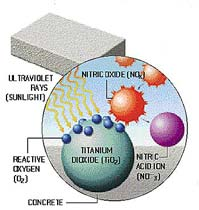 Photocatalytic brick for pavement